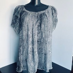 TAHARI Sheer silk blouse